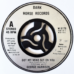 "George Harrison - Got My Mind Set On You (7"") (VG/NM)"